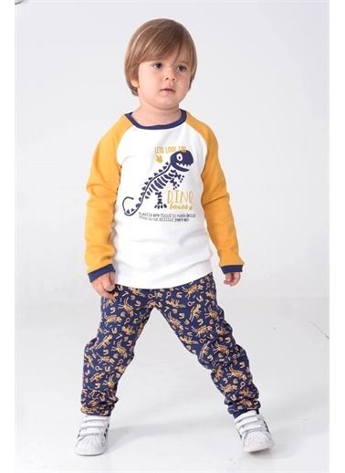 Silversun Kids Erkek Çocuk Baskılı Pijama Takım - !Pjm 212942 Hardal